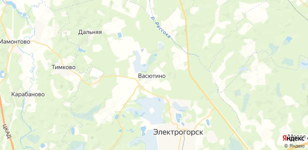 Васютино на карте