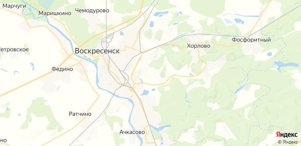 Воскресенск на карте