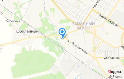 Местоположение на карте пункта техосмотра по адресу Ярославская обл, г Рыбинск, ул Ворошилова, д 25
