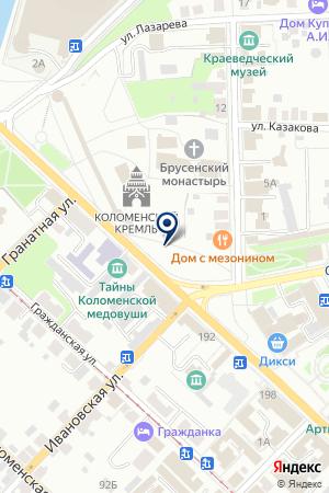 АВТОМОБИЛЬНЫЕ ОБЪЯВЛЕНИЯ КОЛОМНЫ на карте Коломны