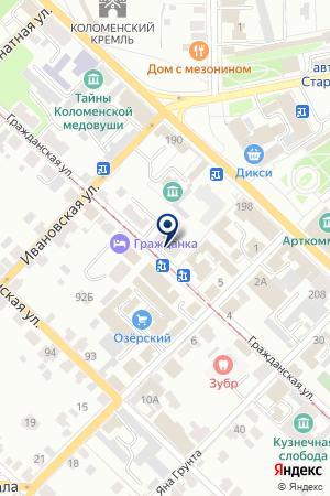 АТЕЛЬЕ № 1 на карте Коломны