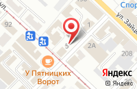 Схема проезда до компании Микос в Коломне