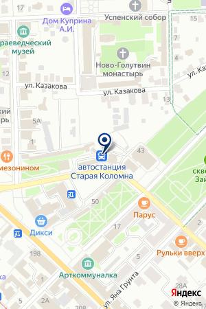 АВТОКОЛОННА № 1417 на карте Коломны