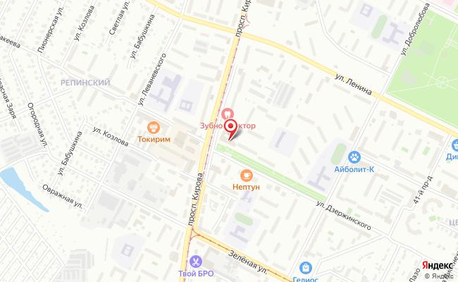 Карта расположения пункта доставки Ростелеком в городе Коломна
