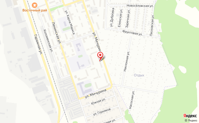 Карта расположения пункта доставки Халва в городе Воскресенск