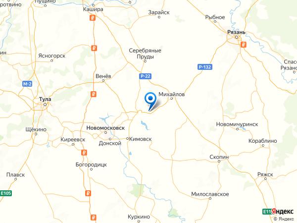 поселок Улановка на карте
