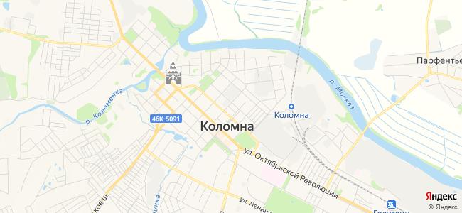 Гостиницы Коломны в центре - объекты на карте