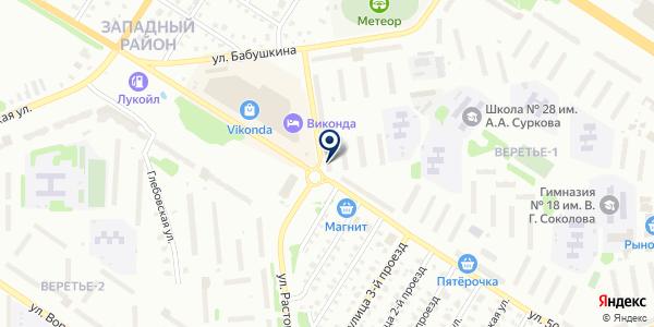 МАГАЗИН ФАРС на карте Рыбинске