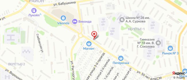 Карта расположения пункта доставки СИТИЛИНК в городе Рыбинск