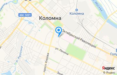 Местоположение на карте пункта техосмотра по адресу Московская обл, г Коломна, ул Гагарина, д 70