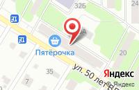 Схема проезда до компании Магазин «Кулинария» в Рыбинске