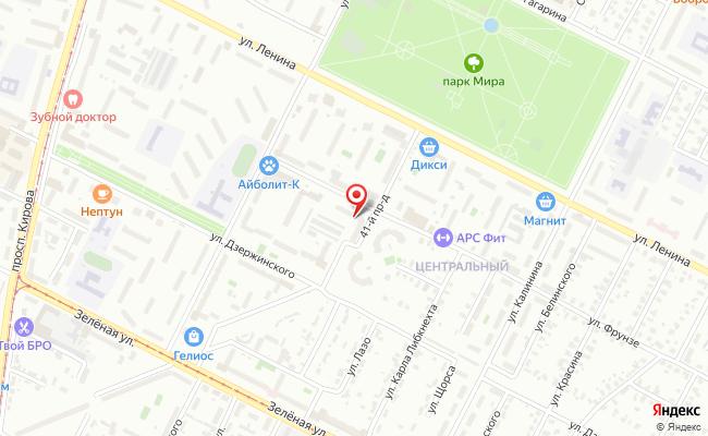 Карта расположения пункта доставки Пункт выдачи в городе Коломна