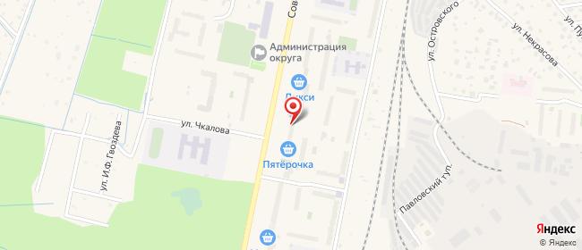 Карта расположения пункта доставки Халва в городе Электрогорск