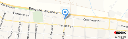 Водяной на карте Краснодара
