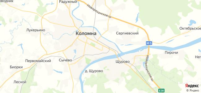 Коломна - объекты на карте