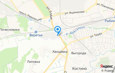Местоположение на карте пункта техосмотра по адресу Ярославская обл, г Рыбинск, ул Труда, д 118