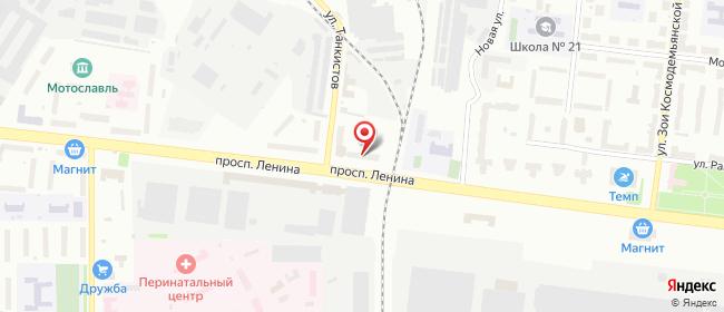 Карта расположения пункта доставки Рыбинск Ленина в городе Рыбинск