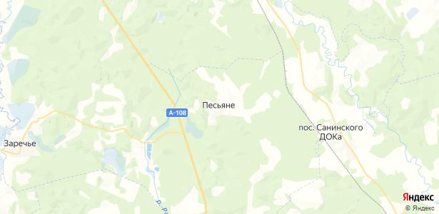 Песьяне на карте