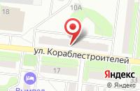 Схема проезда до компании Близнецы в Рыбинске