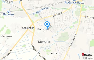 Местоположение на карте пункта техосмотра по адресу Ярославская обл, Рыбинский р-н, д Выгорода, зд 13