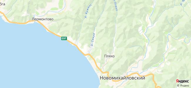 Гостиницы Пляхо - объекты на карте