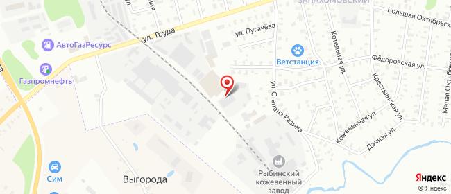 Карта расположения пункта доставки DPD Pickup в городе Рыбинск