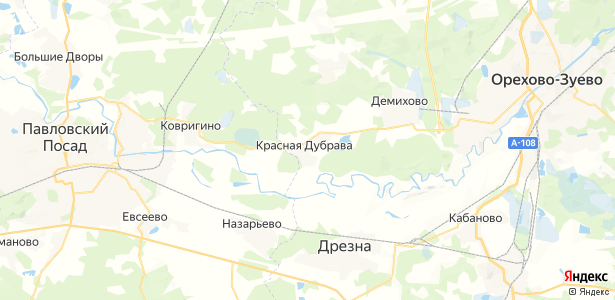 Красная Дубрава на карте