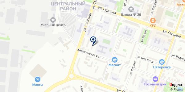 АДВОКАТСКАЯ КОНТОРА № 6 на карте Рыбинске