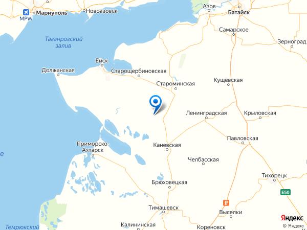 хутор Красный Очаг на карте