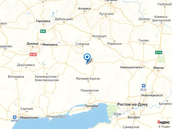 хутор Свободный на карте