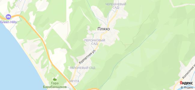 Частный сектор Пляхо - объекты на карте