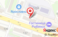 Схема проезда до компании Ностальжи в Рыбинске