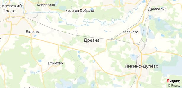 Дрезна на карте