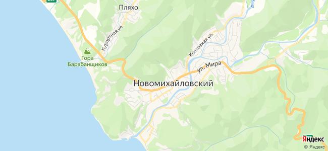 Базы отдыха Новомихайловского - объекты на карте