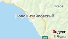 Гостиницы города Новомихайловский на карте
