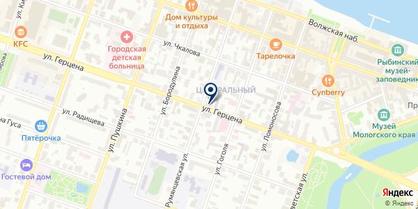 ЮРИДИЧЕСКАЯ КОМПАНИЯ КОРАЛЛ на карте Рыбинске