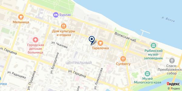 ДОПОЛНИТЕЛЬНЫЙ ОФИС № 1576/0123 СЕВЕРНЫЙ БАНК АКСБ РФ на карте Рыбинске