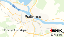 Отели города Рыбинск на карте