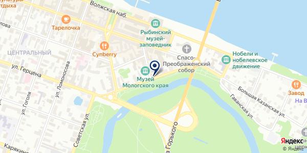 ДОПОЛНИТЕЛЬНЫЙ ОФИС № 1576/095 СЕВЕРНЫЙ БАНК АКСБ РФ на карте Рыбинске