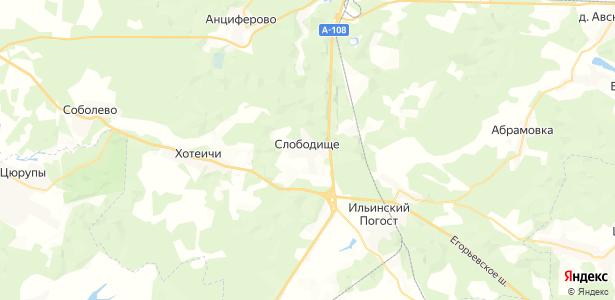 Слободище на карте