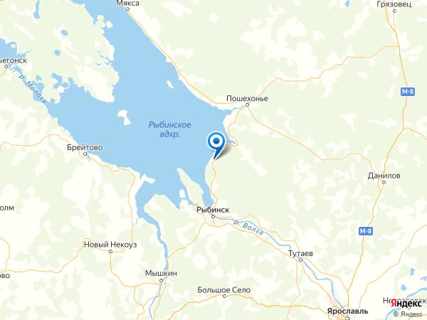 деревня Осташево на карте