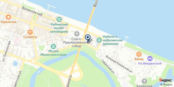 АДВОКАТСКОЕ БЮРО на карте Рыбинске