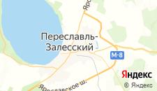Гостиницы города Переславль-Залесский на карте