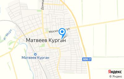 Местоположение на карте пункта техосмотра по адресу Ростовская обл, п Матвеев Курган, ул 1 Мая, зд 108Б