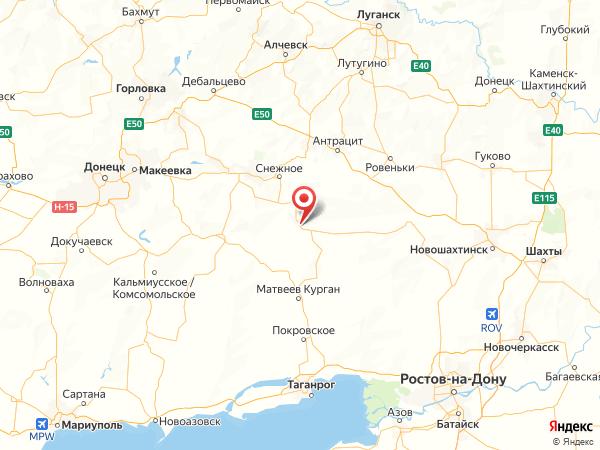 хутор Заречный на карте
