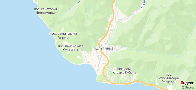 Ольгинка - объекты на карте