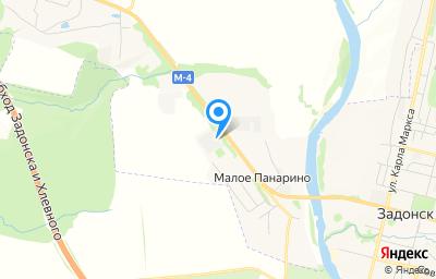 Местоположение на карте пункта техосмотра по адресу Липецкая обл, Задонский р-н, д Малое Панарино