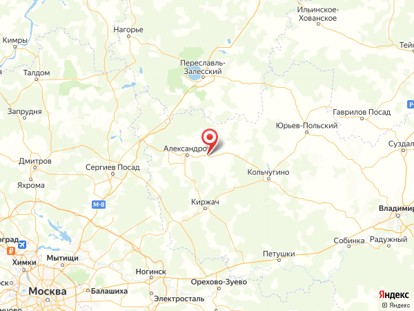 деревня Легково на карте