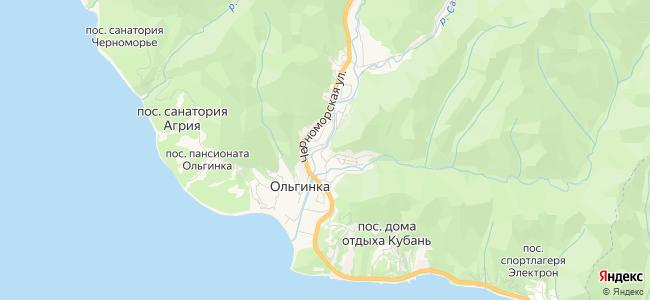 Гостиницы Ольгинки - объекты на карте
