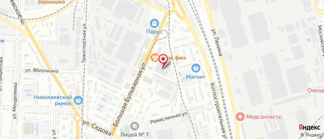 Карта расположения пункта доставки DPD Pickup в городе Таганрог